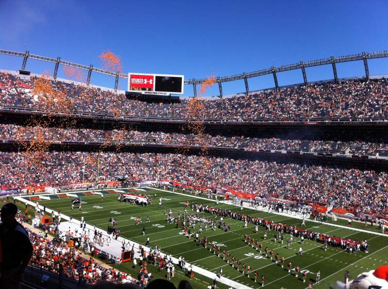 Seating view for Sports Authority Field at Mile High Section 302 Row 8
