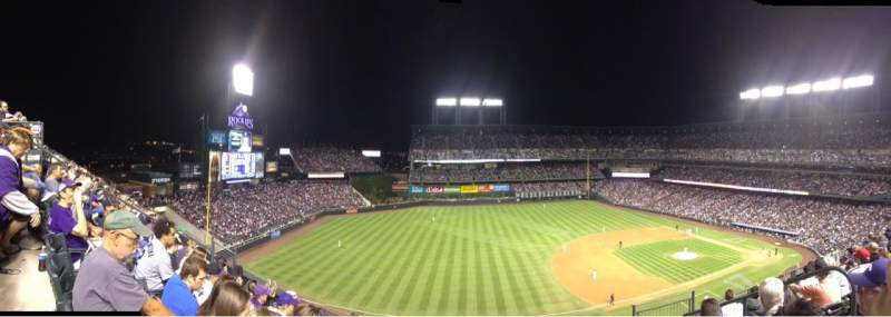 Seating view for Coors Field Section U343 Row 6 Seat 4