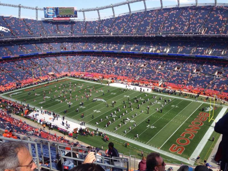 Seating view for Sports Authority Field at Mile High Section 502 Row 13 Seat 20