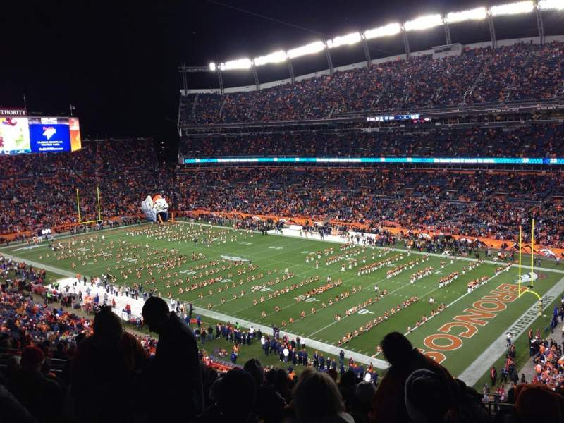 Seating view for Broncos Stadium at Mile High Section 330 Row 17 Seat 4