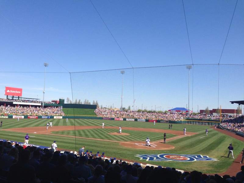 Seating view for Sloan Park Section 110 Row 22 Seat 17