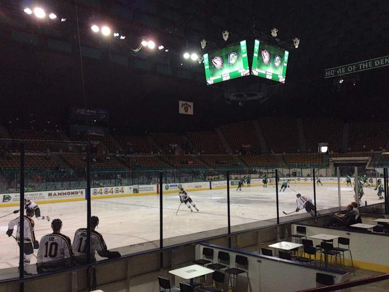 Seating view for Denver Coliseum Section 130 Row 3 Seat 8