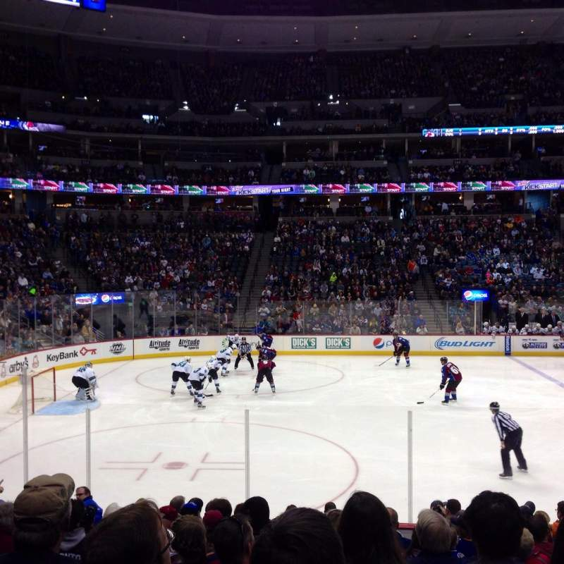 Seating view for Pepsi Center Section 128 Row 13 Seat 9