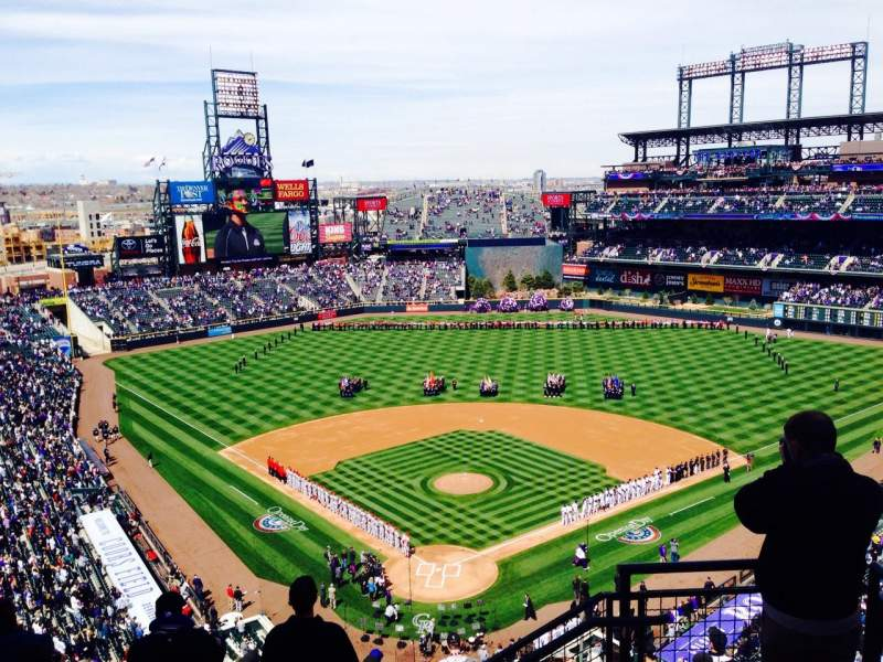 Seating view for Coors Field Section 330 Row 12 Seat 2