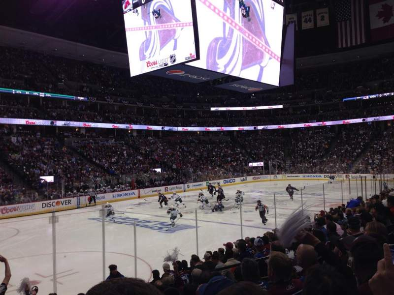Seating view for Pepsi Center Section 130 Row 11 Seat 10