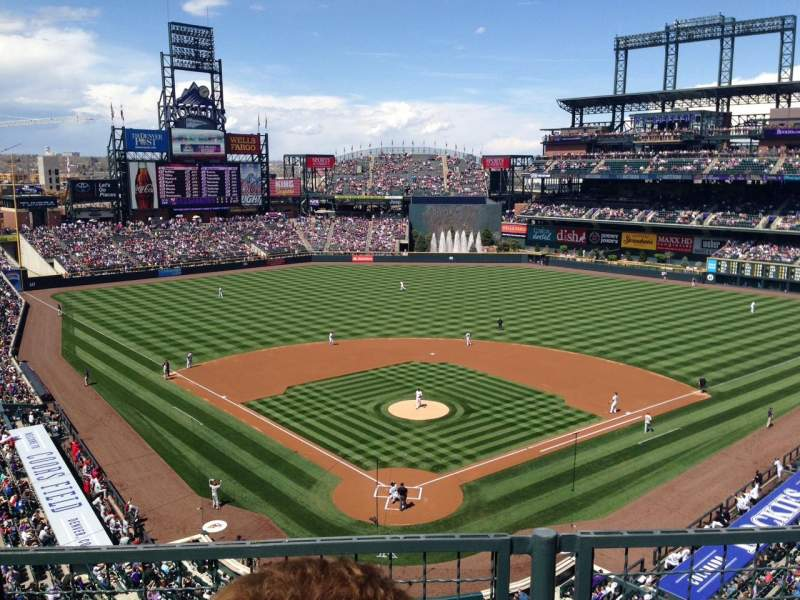 Seating view for Coors Field Section L330 Row 2 Seat 6