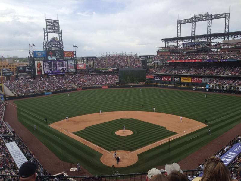 Seating view for Coors Field Section L330 Row 5 Seat 7