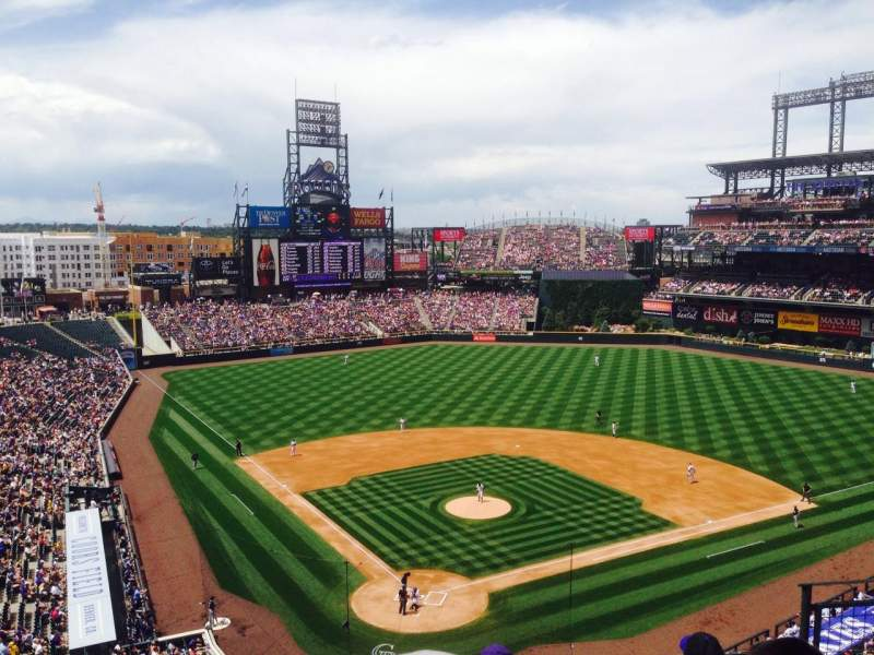 Seating view for Coors Field Section L329 Row 5 Seat 5