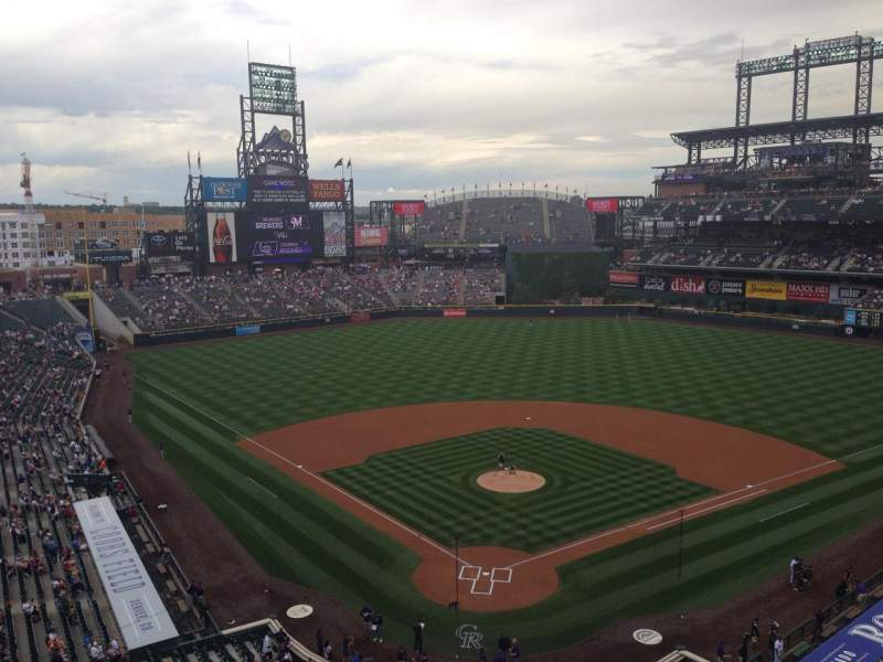 Seating view for Coors Field Section L330 Row 2 Seat 4