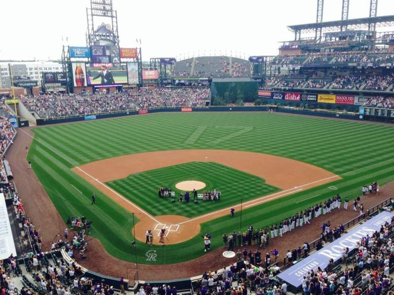 Seating view for Coors field Section L329 Row 1 Seat 7