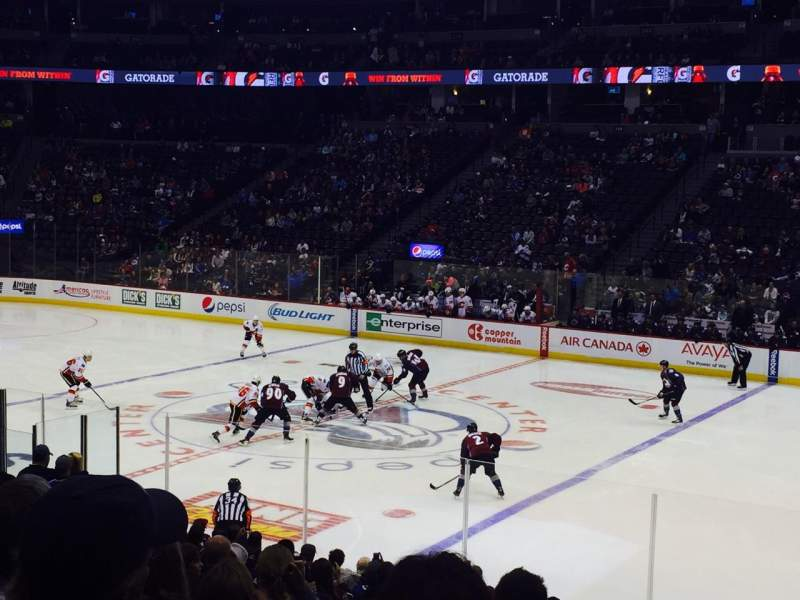 Seating view for Pepsi Center Section 122 Row 18 Seat 5