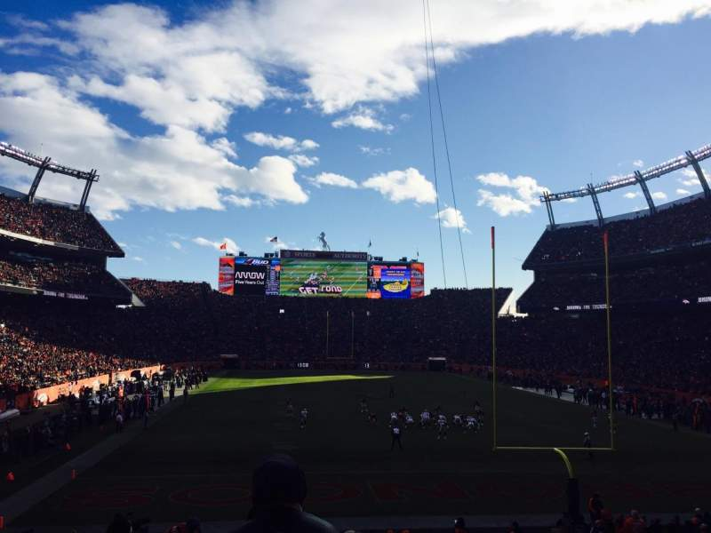 Seating view for Sports Authority Field at Mile High Section 115 Row 25 Seat 8