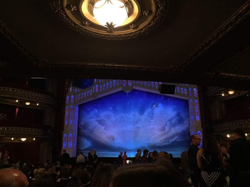 Seating view for PrivateBank Theatre Section Orch-C Row W Seat 118