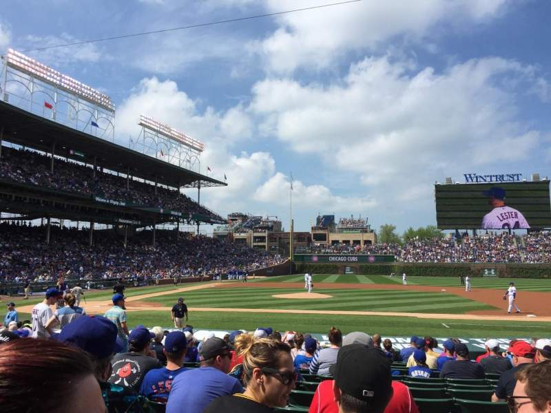 Seating view for Wrigley Field Section 129 Row 2 Seat 105