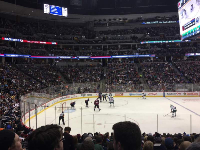 Pepsi Center, section: 104, row: 17, seat: 16
