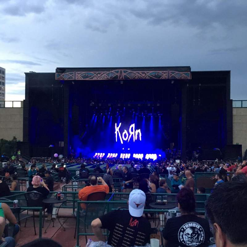 Seating view for Fiddler's Green Amphitheatre Section 203 Row J Seat 218