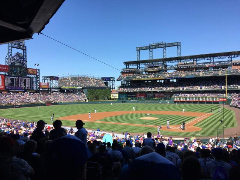 Seating view for Coors Field Section 133 Row 36 Seat 13