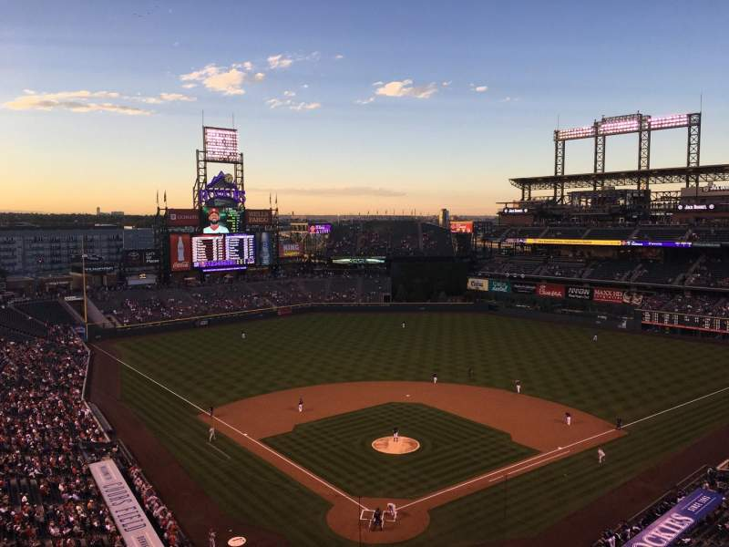 Seating view for Coors Field Section U330 Row 10 Seat 5
