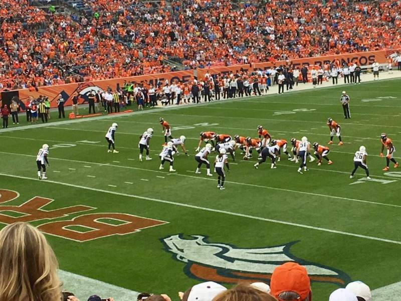 Seating view for Sports Authority Field at Mile High Section 128 Row 25 Seat 37