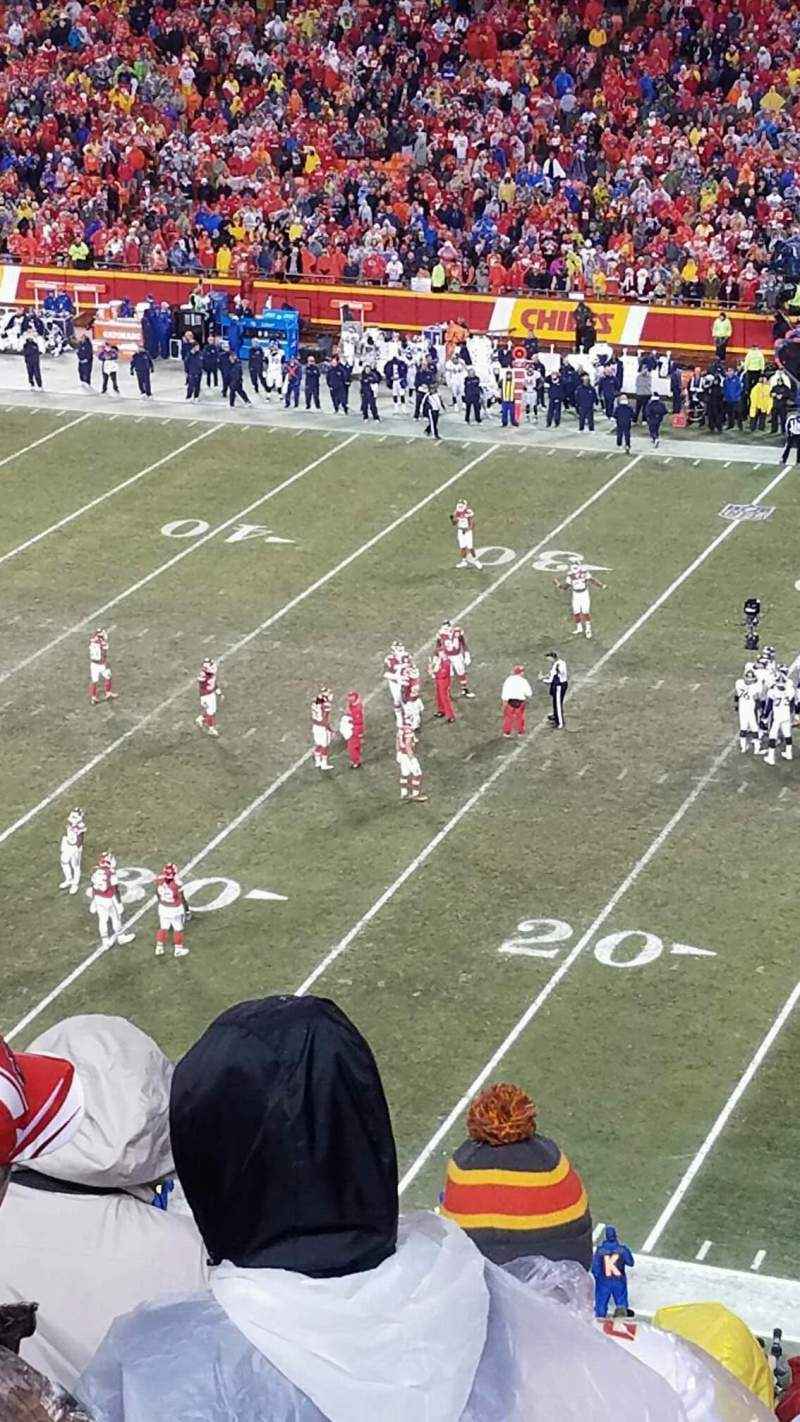Seating view for Arrowhead Stadium Section 320 Row 14 Seat 19