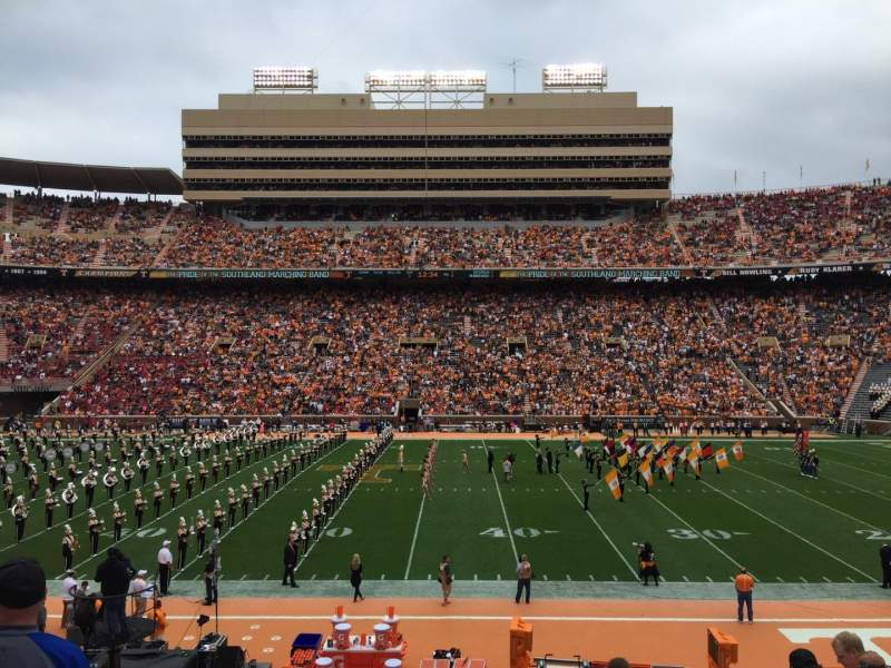 Seating view for Neyland Stadium Section T Row 19 Seat 15