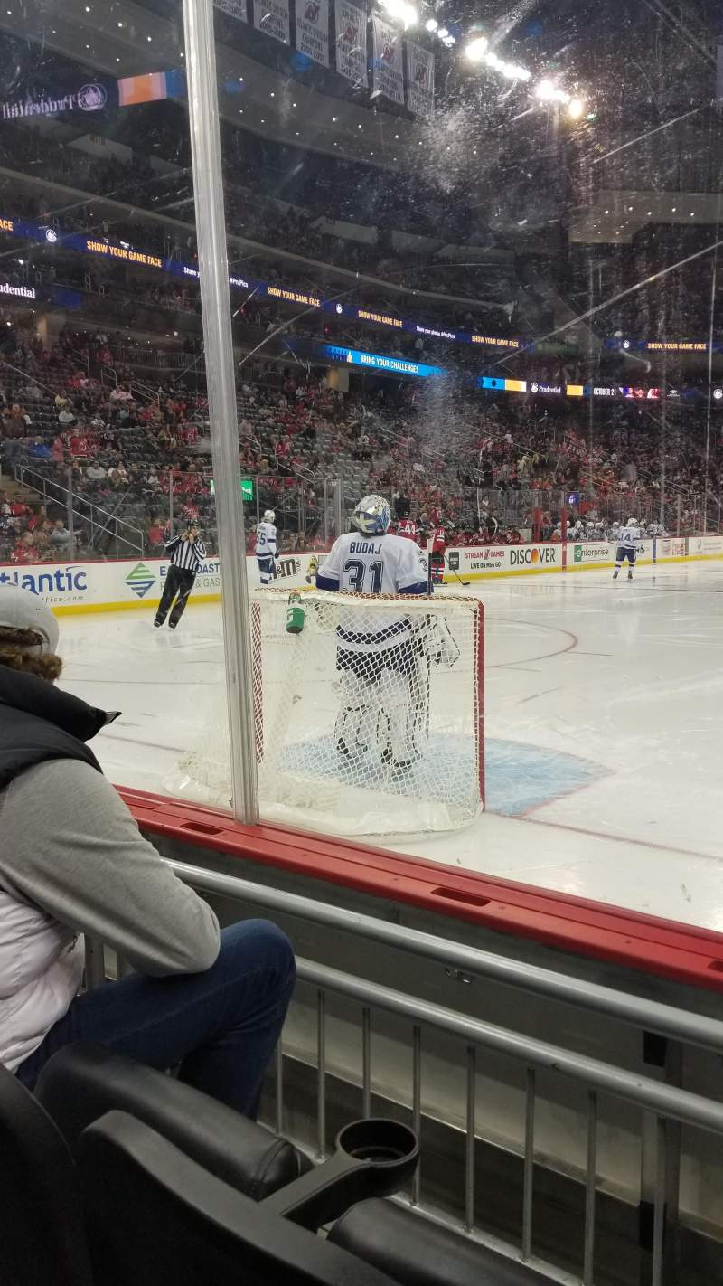 Seating view for Prudential Center Section 14 Row 2 Seat 4