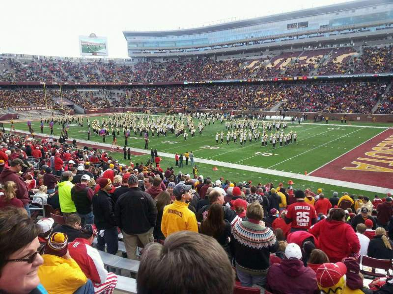 Seating view for TCF Bank Stadium Section 105 Row 26 Seat 10