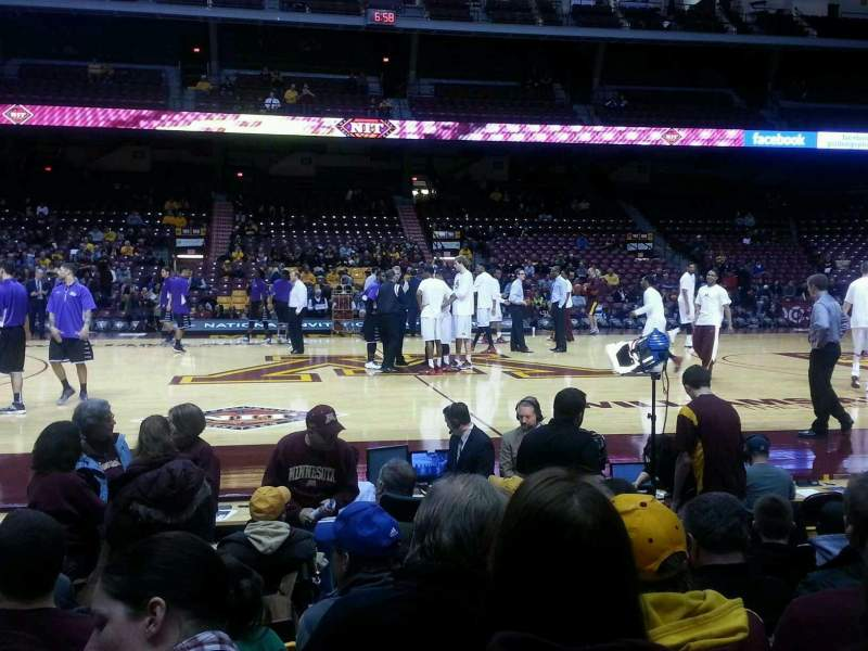 Seating view for Williams Arena Section 116 Row 8 Seat 16