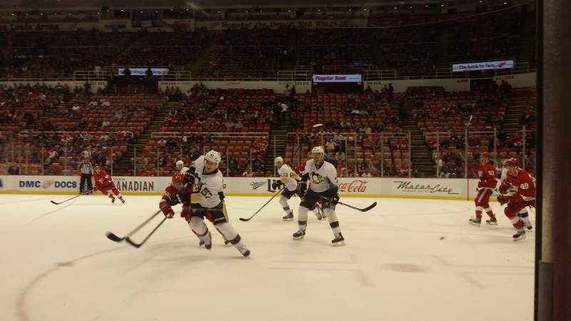 Seating view for Joe Louis Arena Section 110 Row 1 Seat 4