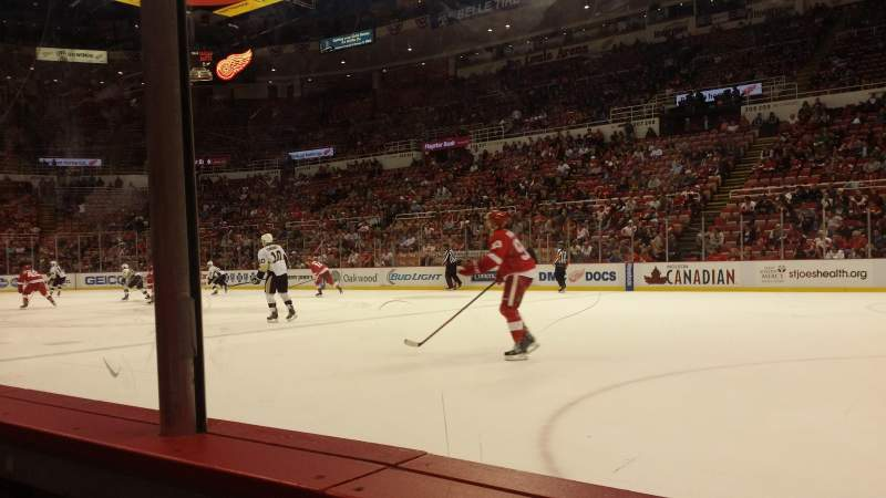 Seating view for Joe Louis Arena Section 119 Row 1 Seat 10