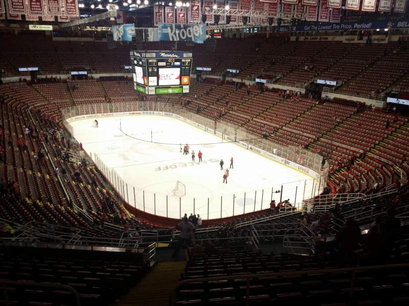Seating view for Joe Louis Arena Section 216b Row 18 Seat 15
