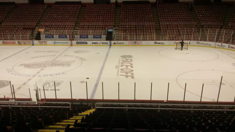 Seating view for Joe Louis Arena Section 106 Row 18 Seat 15