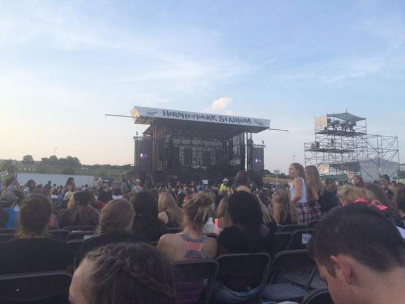 Seating view for Hershey park Stadium Section G Row 72 Seat 40