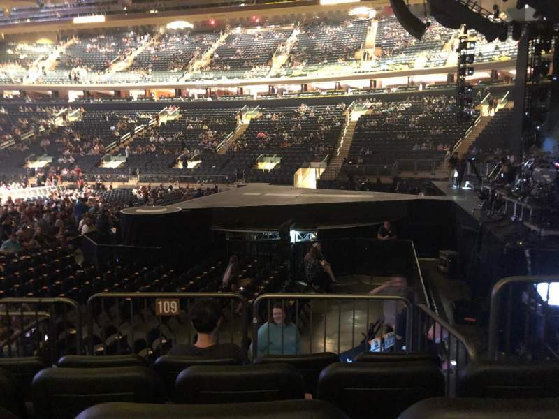 Madison Square Garden, section: 109, row: 6, seat: 8