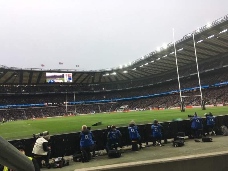 Seating view for Twickenham Stadium Section L36 Row 3 Seat 246