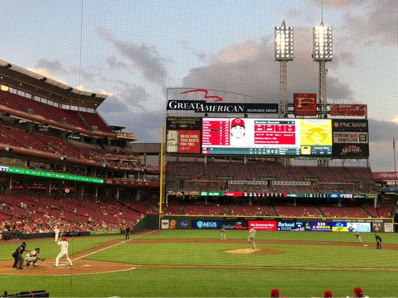 Seating view for Great American Ball Park Section 128 Row N Seat 8