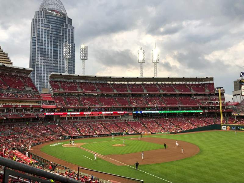 Seating view for Great American Ball Park Section 528 Row K Seat 19