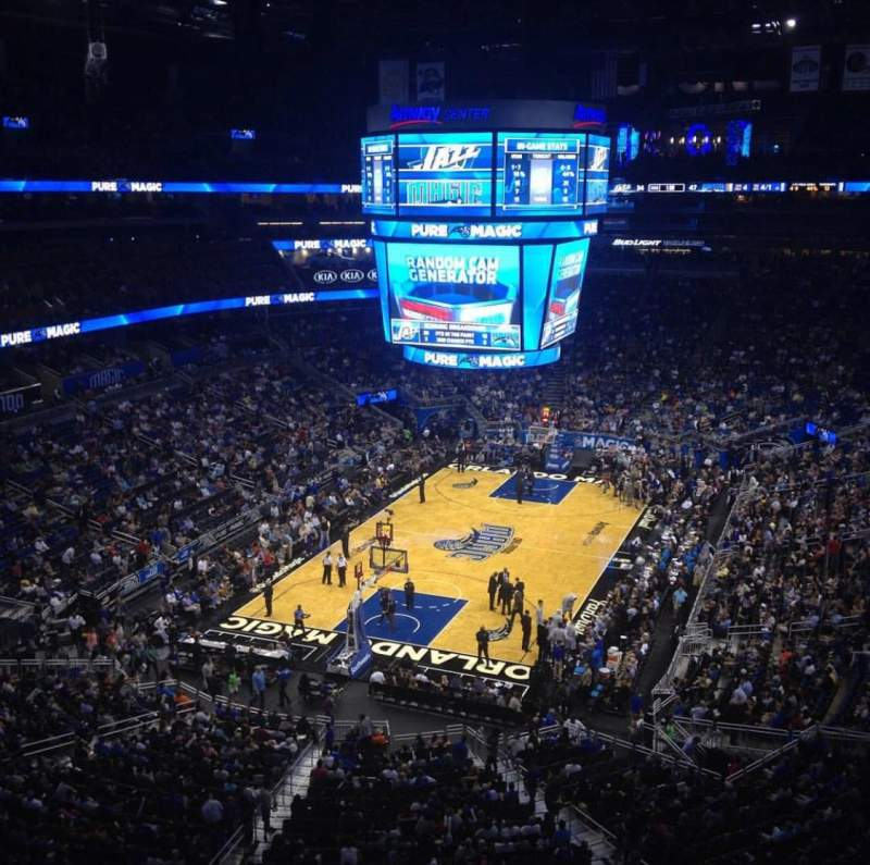 Seating view for Amway Center Section 215 Row 2 Seat 2
