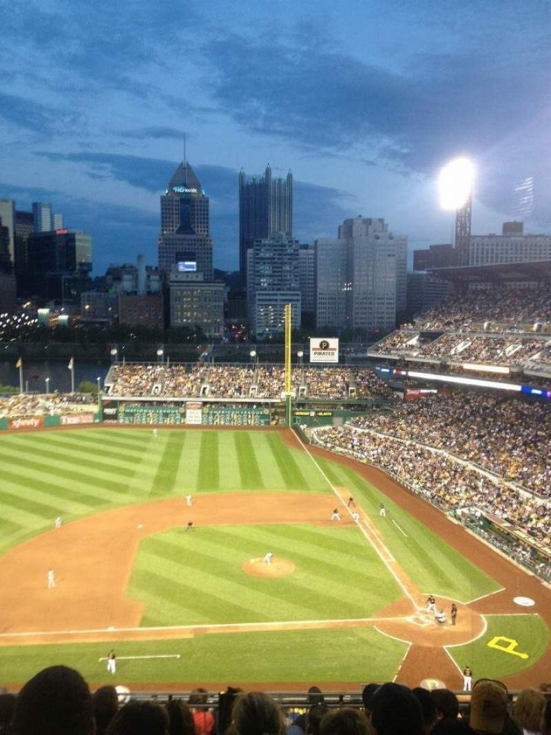 Seating view for PNC Park Section 319 Row L Seat 5