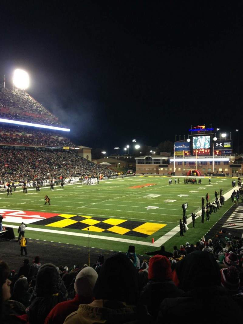 Seating view for Maryland Stadium