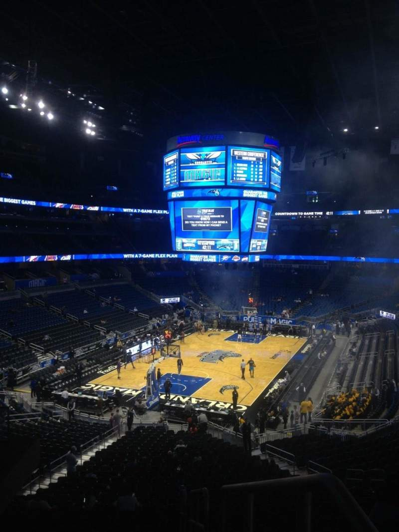 Seating view for Amway Center