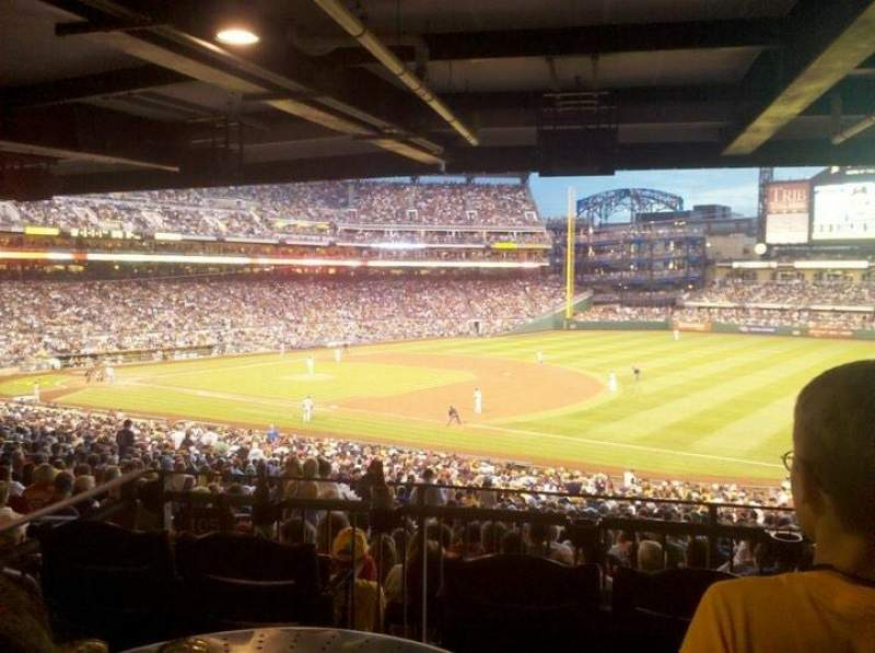 Seating view for PNC Park Section 105 Row HH