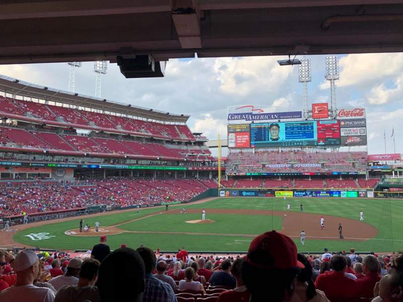 Seating view for Great American Ball Park Section 130 Row NN Seat 11