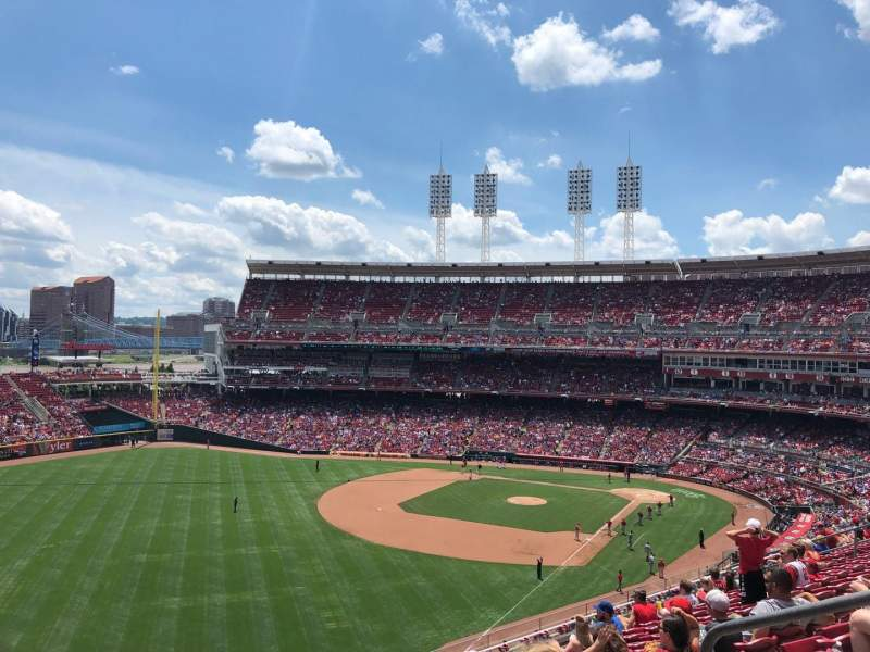 Seating view for Great American Ball Park Section 410 Row K Seat 5
