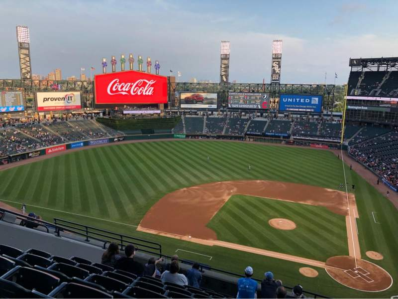 Seating view for Guaranteed Rate Field Section 537 Row 9 Seat 11