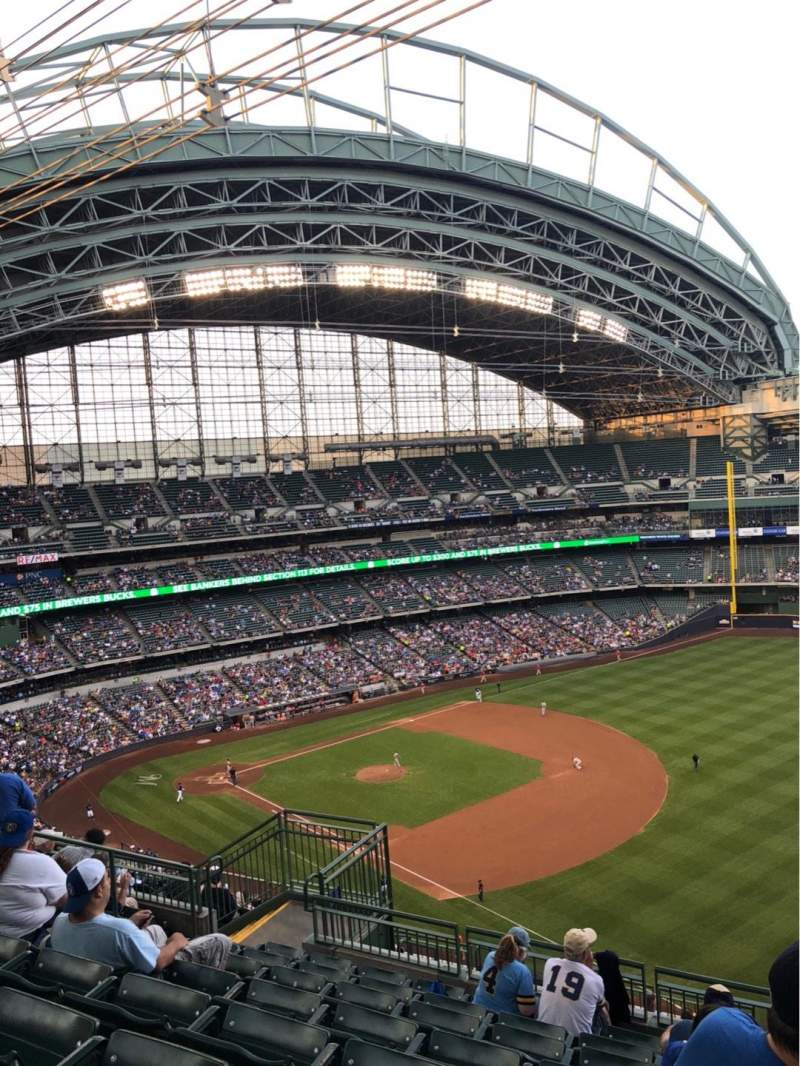 Seating view for Miller Park Section 409 Row 15 Seat 12