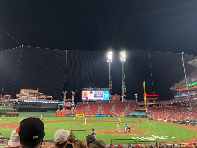 Seating view for Great American Ball Park Section 120 Row R Seat 1