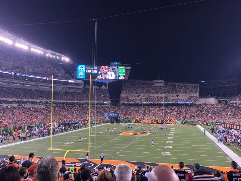 Seating view for Paul Brown Stadium Section 152 Row 30 Seat 10