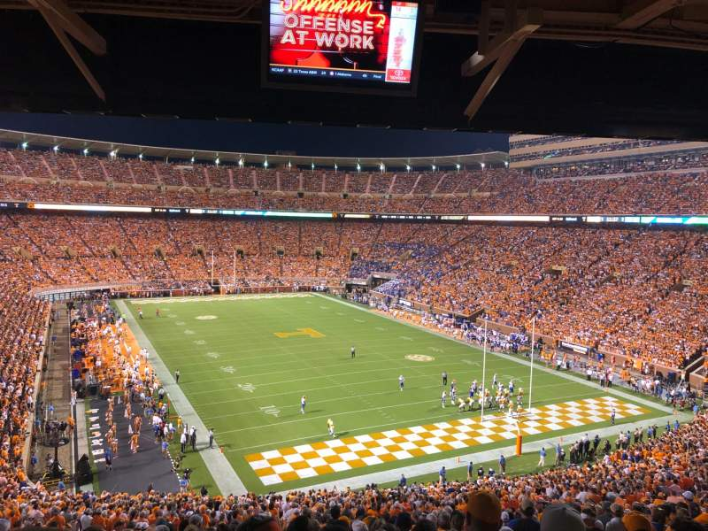 Seating view for Neyland Stadium Section N Row 60 Seat 27