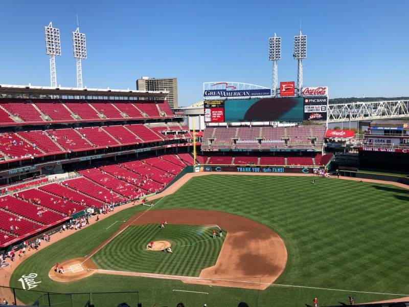 Seating view for Great American Ball Park Section 531 Row H Seat 14